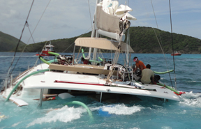 Boat Damage Inspection in British Virgin Islands